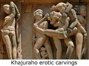 Khajuraho Kama Sutra temples of Madhya Pradesh well known for its erotic statues
