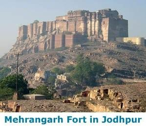 Mehrangarh Fort in Jodpur, Rajastha a fine example of the great forts in Rajasthan